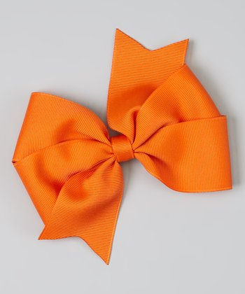 Orange Bowtique Clip