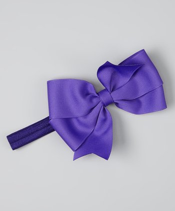 Purple Bowtique Headband