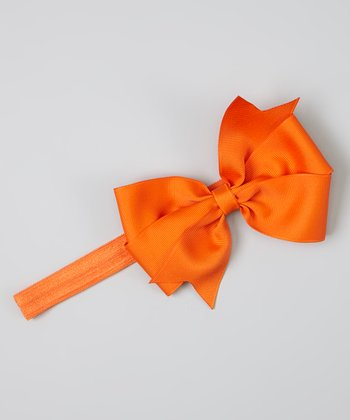 Orange Bowtique Headband