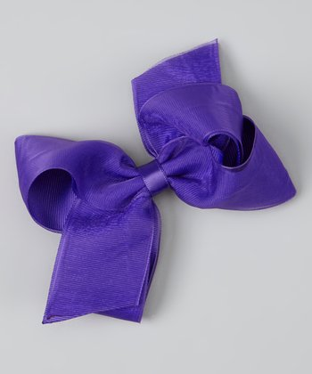 Purple Organza Bow Clip
