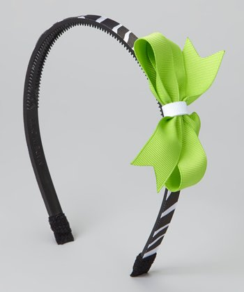 Lime Green Bow Headband