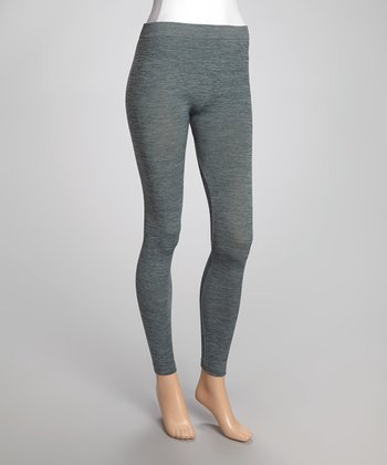 Heather Green Leggings