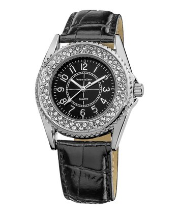 Black Genuine Crystal Watch