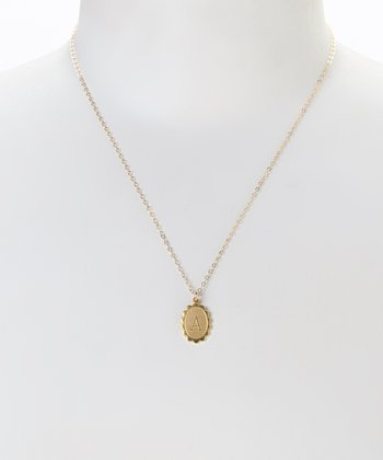 Gold Alice Initial Pendant Necklace