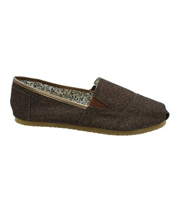 Bronze Glitter Seaside Slip-On Shoe