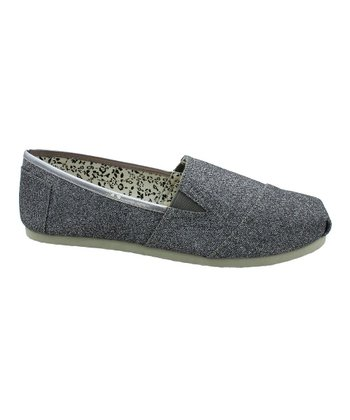 Pewter Glitter Seaside Slip-On Shoe
