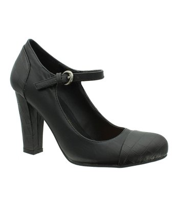 Black Chelsea Mary Jane Pump