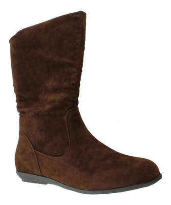 Brown Faux Suede Boot