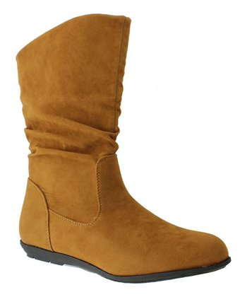 Tan Faux Suede Boot