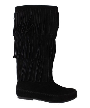 Black Tribal Boot