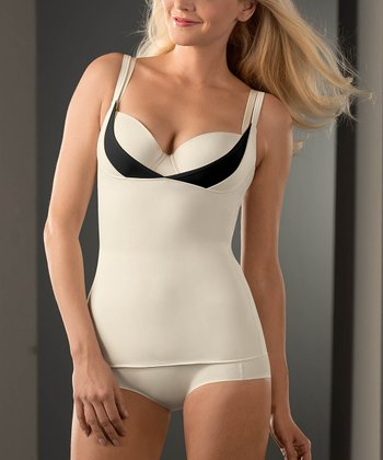 Beige & Black Shaper Under-Bust Camisole - Women & Plus