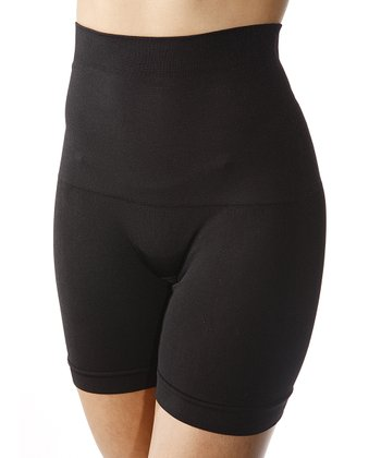 Black Seamless High-Waisted Shaper Shorts - Women