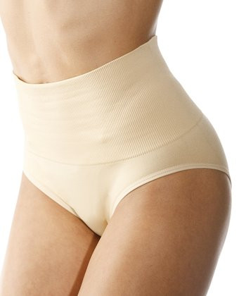Nude Seamless High-Waisted Shaper Bikini Briefs - Women