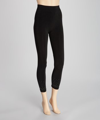Black Sparkle Shaper Leggings - Women