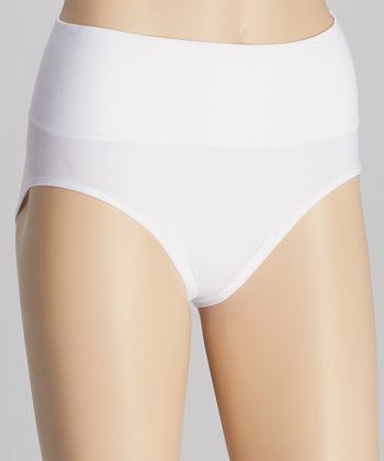 White Seamless Shaper Briefs - Women