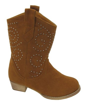 Rust Studded Lobo Cowboy Boot