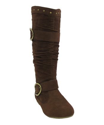 Brown Buckle Trisha Boot
