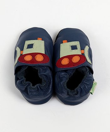 Dark Blue Bulldozer Soft Sole Shoes