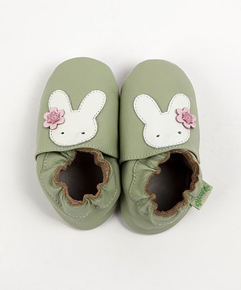 Green Bunny Soft Sole Shoes