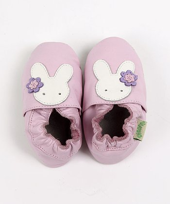 ShooFoo - Pink Bunny Soft Sole Shoes