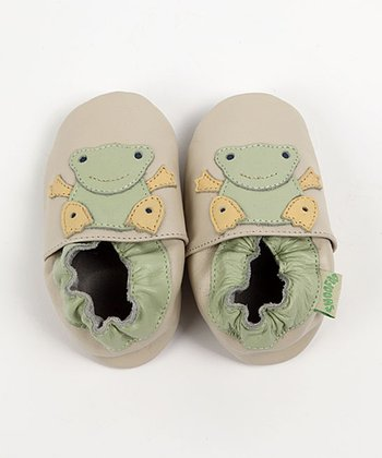ShooFoo - Cream Frog Soft Sole Shoes