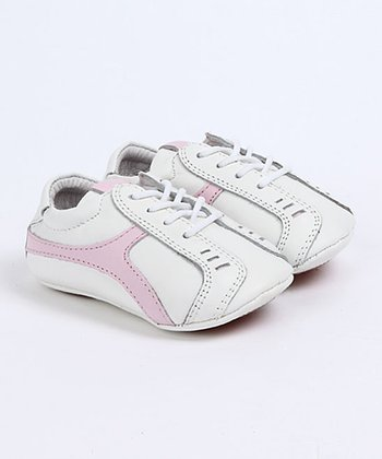 White & Pink Helena Baby Tennis Shoes