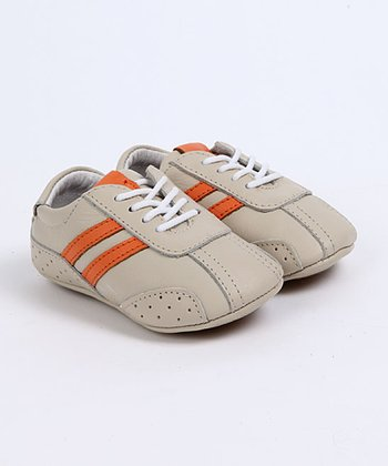 Cream & Orange John Baby Tennis Shoes