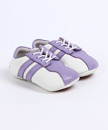 Purple & White Morgen Baby Tennis Shoes