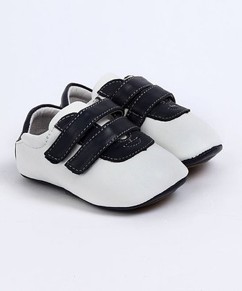 Dark Blue & White Ronney Baby Tennis Shoes