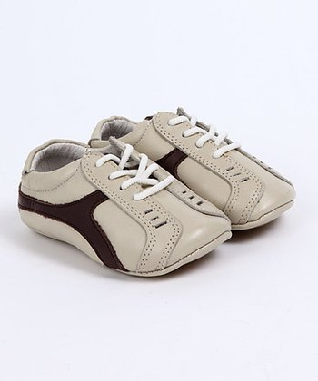 Cream & Brown Troels Baby Tennis Shoes