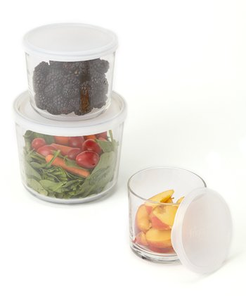 Frosted Frigoverre Round Storage Container Set