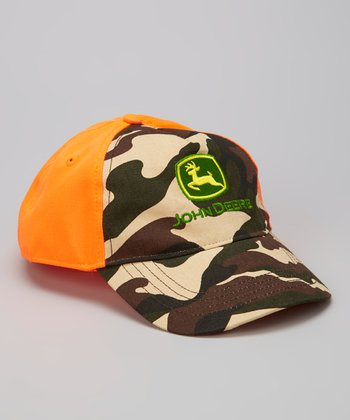 Orange Camo Baseball Cap