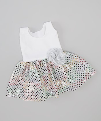 White Sparkle Doll Dress