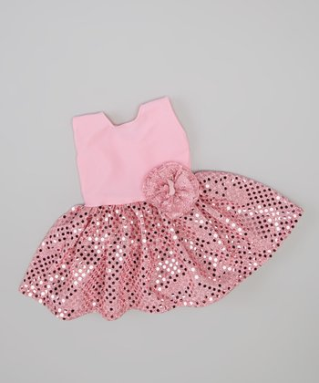 Pink Sparkle Doll Dress