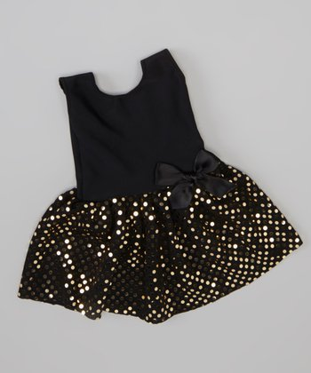 Black Sparkle Doll Dress