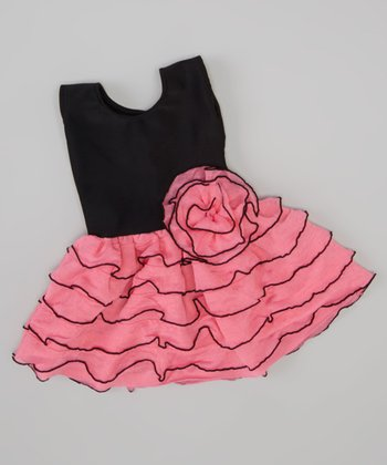 Pink Ruffle Doll Dress