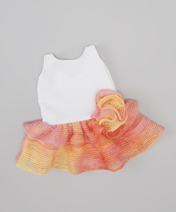 Pink & Orange Ruffle Doll Dress