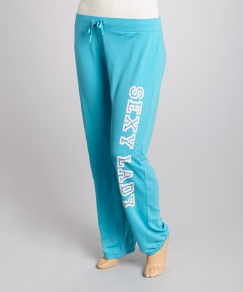 Blue 'Sexy Lady' Lounge Pants - Plus