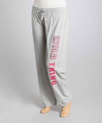 Dark Gray 'Wild Thing' Lounge Pants - Plus
