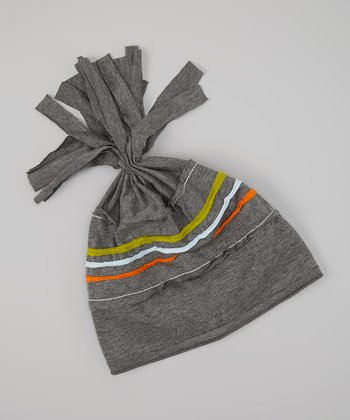 Gray & Blue Stripe Beanie