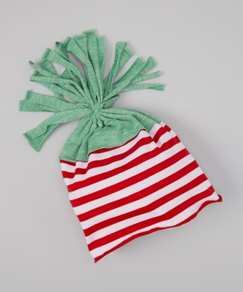 Red & White Stripe Beanie