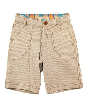 Gray Stripe Ace of Spades Shorts - Toddler & Girls