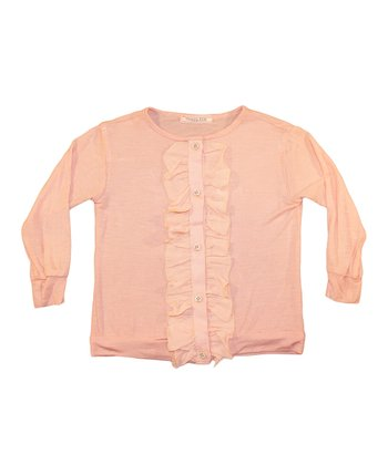 Blush Ruffle Cardigan - Toddler & Girls