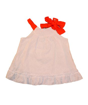 Blush & Coral Wonderland Swing Top - Toddler & Girls