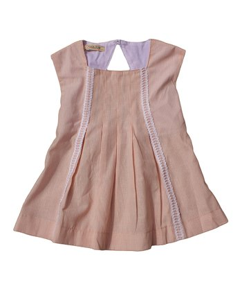 Blush Stripe Pleated Top - Toddler