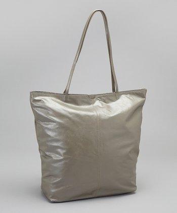 Latico Leather Metallic Gray Nora Tote