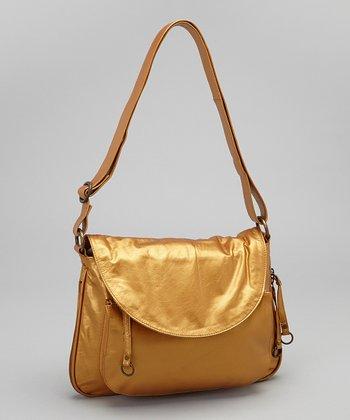 Latico Leather Metallic Gold Mitzi Shoulder Bag