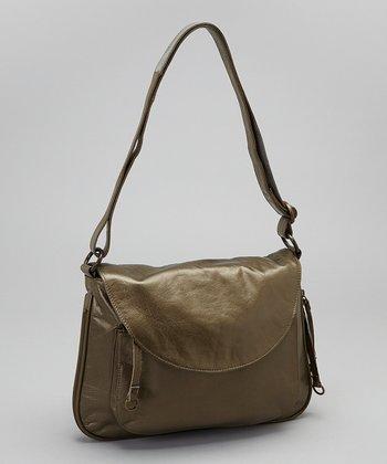 Latico Leather Metallic Olive Mitzi Shoulder Bag