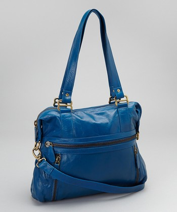 Latico Leather Blue Hazel Tote