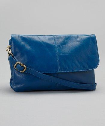 Latico Leather Blue Lidia Crossbody Bag